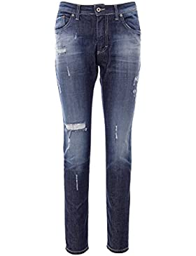 Damen jeans hosen Please Fashion destroyed baggy P57