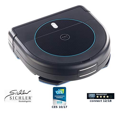 Sichler Haushaltsgeräte Wischroboter: Multiroom-Saug- & Wisch-Roboter mit 4-Phasen-Reinigung & Ladestation (Saug und Wischroboter)