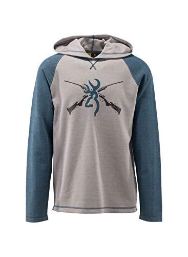 Browning Herren T-Shirt mit Kapuze, Pavant - Mehrfarbig - X-Groß -