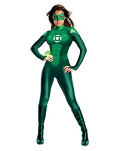 "Green Lantern Movie Costume, Womens Green Lantern Costume, X-Small, (USA 0 - 2), BUST 32 - 34"", WAIST 22 - 24"""