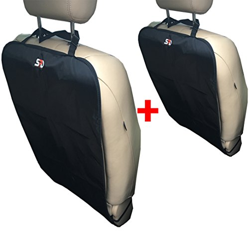 Preisvergleich Produktbild Kick Mats for Car Seats By SPD - Premium Large Car Seat Back Protectors (2 Pack) - Fits Most Vehicles - Simple Installation - Top Quality