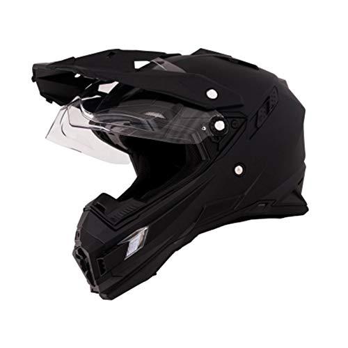 O'Neal Sierra Adventure Enduro Helm matt schwarz aerodynamischer Motorradhelm mit Sonnenblende, 0815-40, Größe Large (59 - 60 cm)