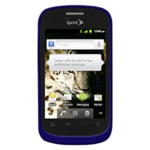 Amzer AMZ93544 Silicone Jelly Skin Fit Case Cover for ZTE Fury N850 - 1 Pack - Retail Packaging - Blue