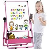 Arkmiido Pizarra Infantil Caballete para niños, Pizarra Magnetica Infantil, Pizarra Blanca y Pizarra con Soporte Ajustable y