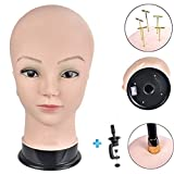 Ersiman professionale femmina testa di manichino Calvo testa di manichino per parrucche making WIG display Hat display occhiali display parrucchieri bambola testa con morsetto