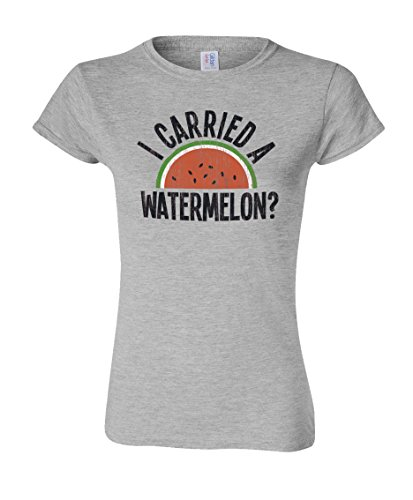 Patricks Day Youth T-shirt (I Carried A Watermelon? Funny Slogan Ladies Damen Fit T-Shirt)