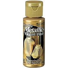 DecoArt Dazzling Metallics - Pintura acrílica con efecto metálico (59ml), color dorado