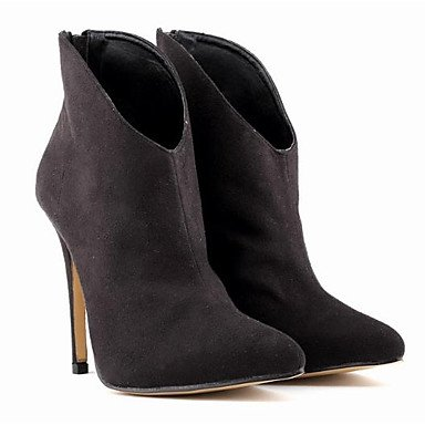 Rtry Femmes Chaussures Pu Automne La Mode Bottes Bottes Talon Stiletto Toe Booties / Bottines Casual Vêtements Café Noir Gris Us7.5 / Eu38 / Uk5.5 / Cn38