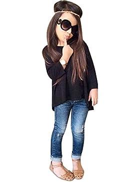 [Patrocinado]Ropa para chicas, RETUROM Camiseta larga de la manga de la muchacha fresca del estilo Tops + Jeans Pantalones...