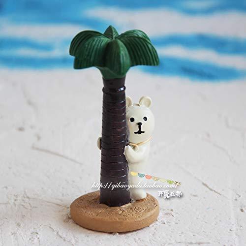GBYJ Decoracion Seaside White Bear Travel Cat Black Bear Coco Doll Decoración de Auto, Coco White Bear