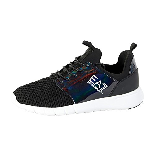 emporio-armani-zapatillas-de-deporte-de-lona-hombre-negro-negro-45-eu