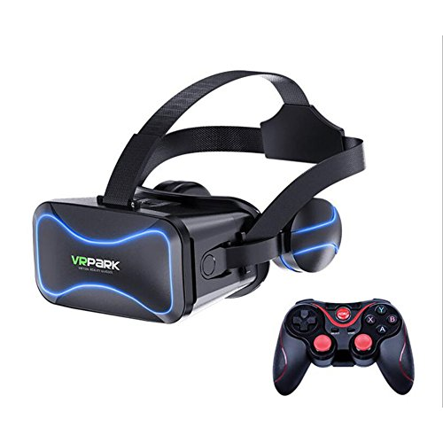 FHTD 3D Senior VR Headset, Virtual Reality Headset 3D VR Brille Geeignet Für Alle IOS & Android Smartphones (ABS-Rohmaterial, Asphärische Optische Linse mit Hoher Durchlässigkeit),J30+C8