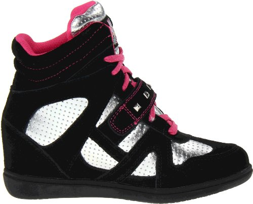 Skechers Double Trouble, Baskets mode fille Noir (Bksp)