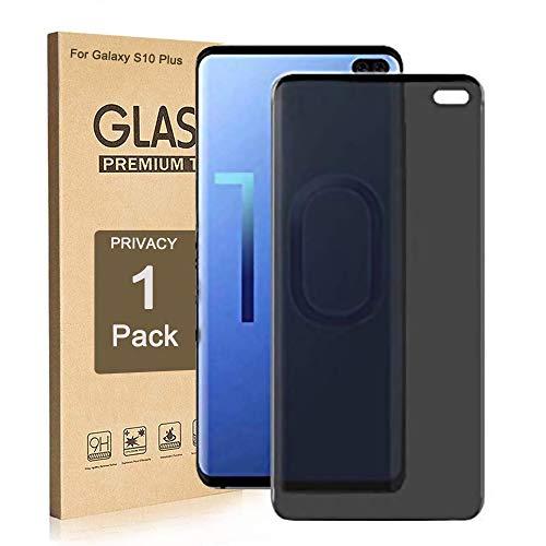 Galaxy S10 Plus Sichtschutzfolie, ZAOX [Anti-Spy] [Hülle freundlich] [volle Abdeckung] [3D Touch kompatibel] Premium gehärtetes Glas Displayschutzfolie für Samsung Galaxy S10 Plus 2019 (1 Pack)