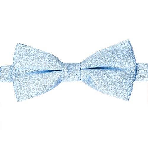 Accessoryo - Himmelblaue Fliege der Männer mit silbernen ()