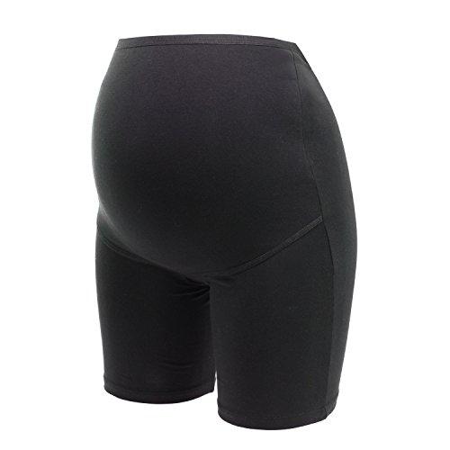 Umstandsslip mit langen Beinen, perfekt für die Schwangerschaft, nach Geburt, hochwertiger Baumwoll-Mix, von HERZMUTTER (5000 2X Schwarz