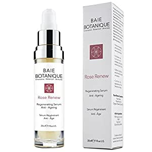 Baie Botanique Anti-Aging Gesichtsserum mit 15% Hyaluronsäure, Rosenwasser, Rose Absolue, Hagebuttenkernöl, Glykolsäure