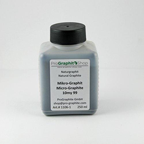 Mikropuder - Mikronisierter Naturgraphit / Naturgrafit mit hoher Reinheit und exzellenter Schmierfähigkeit (250 ml)