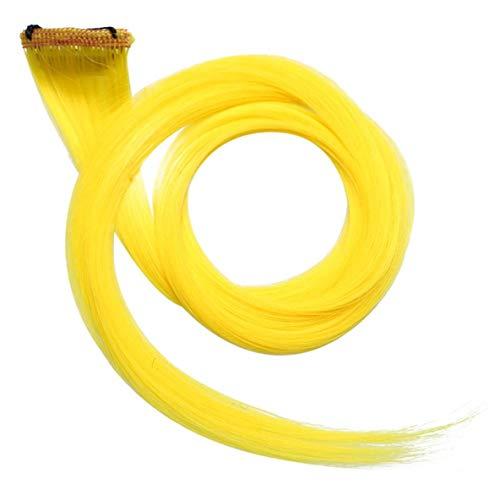 Noradtjcca 2 Stück Funky Streifen Clip in Haarverlängerungen -