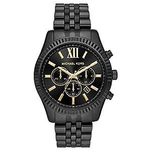 Michael Kors Herren Analog Quarz Uhr mit Edelstahl Armband MK8603