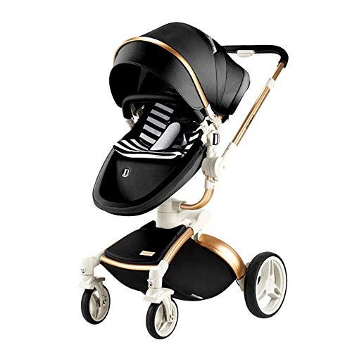 CQ Kinderwagen Hoch Landschaft Kinderwagen Für Neugeborene Travel System Baby Trolley Faltbarer Kinderwagen,Black
