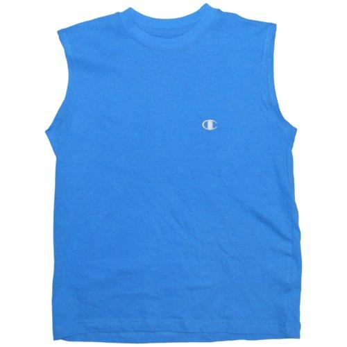 Jungen Small-Xlarge Blue Muskel Sleveeless T-Shirt (Xlarge, blau) (Muskel-shirt Champion)
