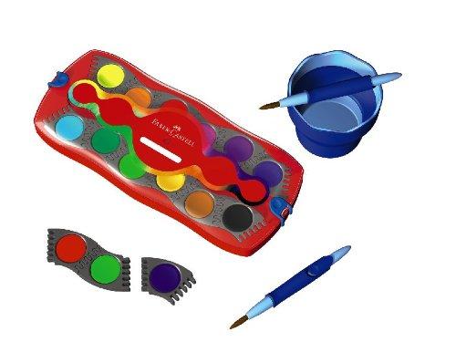 Faber-Castell 125030 - Farbkasten CONNECTOR mit 12 Farben, inklusive Deckweiß - 5