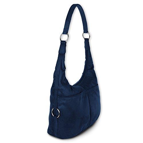 Schultertasche Damen Hobo Bag Handtasche Beuteltasche Farbauswahl D1OTS100X Blau