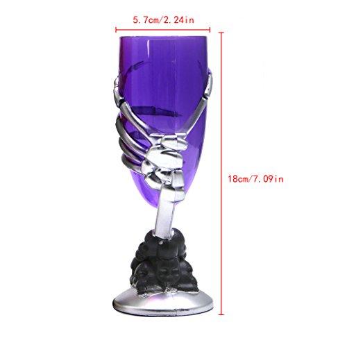 Hergon Halloween-Tasse, leuchtende Totenkopf-Becher, Glas, Horror-Kostüm, Requisite für ()