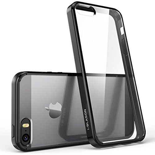 (Apple iPhone SE (2016), 5S , 5 Hülle, i-Blason [Halo Serie] Case, transparente kratzfeste Schutzhülle / Cover (Schwarz))