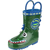 Cotswold Unisex Childrens Patterned Puddle Rain Boot Rubber Upper Footwear