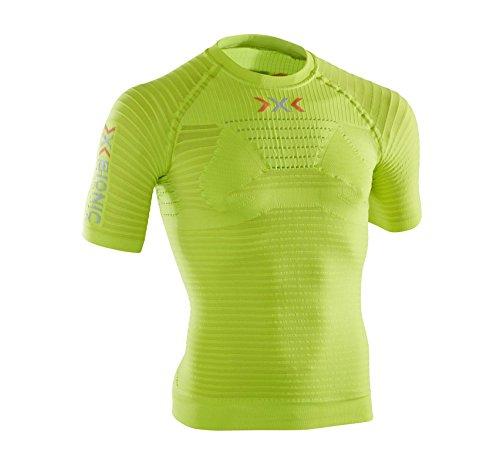 X-bionic effettrici esecuzione o020528 - camicia sportiva da uomo, multicolore (green lime/pearl grey), s/m