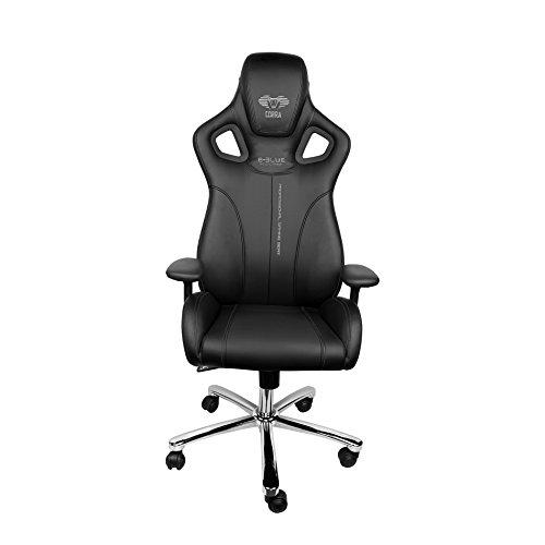 Executive Computer Büro Stuhl (E-Blue Cobra Gaming Stuhl PU Leder Büro Ergonomischer Computer eSports Schreibtisch Executive EEC308BK Schwarz)
