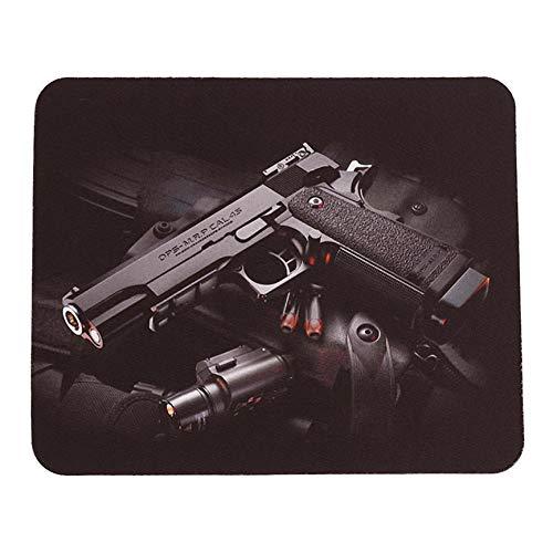 Peanutaod 24x20 cm Gun Muster Anti-Rutsch Laptop PC Mauspad Matte Mauspad Für Optische Laser-Maus Komfortables Gaming-Mauspad