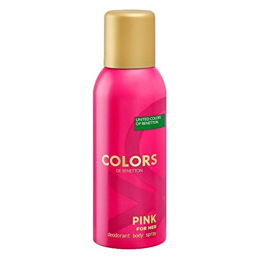 United Colors of Benetton Colours Pink for Her Deodorant, 150ml