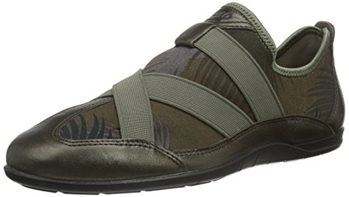 Ecco, Damen Bluma Slipper, Mehrfarbig (Licorice Metallic/Tarmac Palm PRINT59980), 39 EU