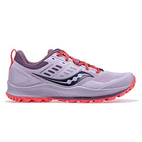 Saucony Peregrine 10 Zapatillas para Correr sobre Camino de Tierra o Montaña con Soporte Neutral para Mujer Gris 38.5 EU
