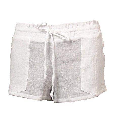 Miken Damen Badehose mit Kordelzug aus Baumwolle - Weiß - XS Junior Strapless Kleider