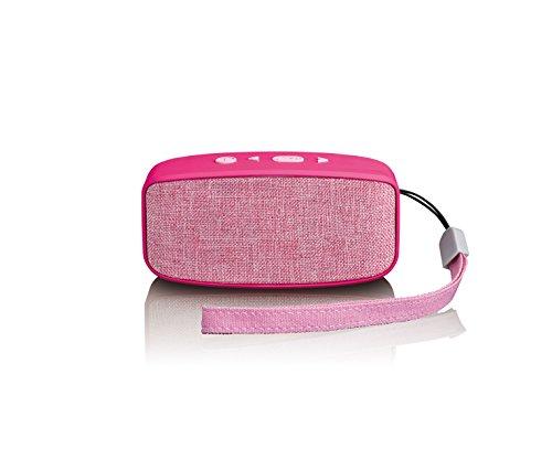 Lenco Bluetooth Lautsprecher BT-120 mit integriertem Akku, Inklusive: AC-Adapter, Rose