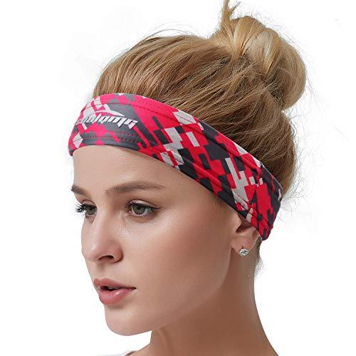 COOLOMG Schweißband Stirnband Sport Yoga Tennis Laufen Crossfit Fitness Gym Damen Herren