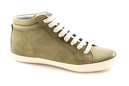 GRUNLAND GIò PO0537 verde scarpe donna sneakers mid pelle 38