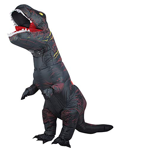 HAPPY WALK Dinosaur Costume Tyrannosaurus Rex Clothing Inflatable Suit Fancy Dress (160~190cm, - Batterie Betrieben Lüfter Für Kostüm