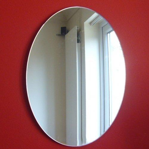 Espejo ovalado de 45 cm x 32 cm