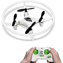 Nuevo Espacio Trek Mini Drone, MakeTheOne RC Quadcopter Helicoptero 4CH 2,4 GHz 4-Axis Gyro Nano Drone RTF 360 ° Spinning Aviones Teledirigidos con LED Brillante, Perfecto Regalos para Niños, Verde