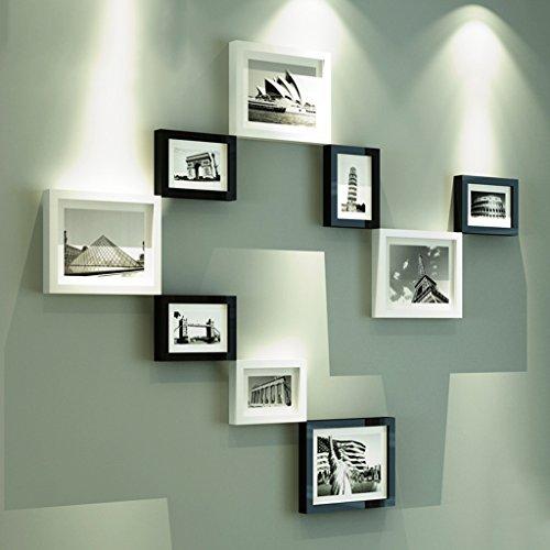 Foto Wandrahmen 9pc Bilderrahmen Wand, moderne Foto Wand Kombination Foto Wand Hintergrund Wandrahmen Wand Modisches Design ( Farbe : 1# )