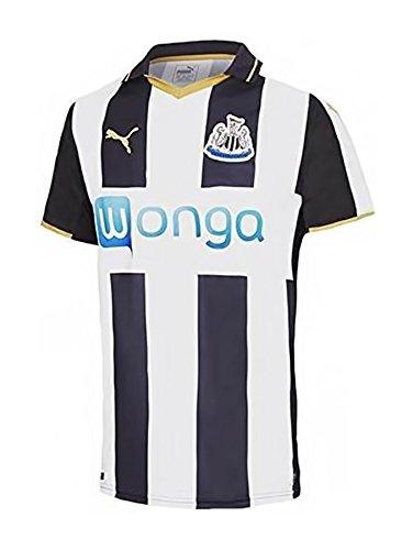 PUMA Herren Trikot Newcastle Home Replica Shirt Black-White-Victory Gold, XL (World Soccer Cup Replica)