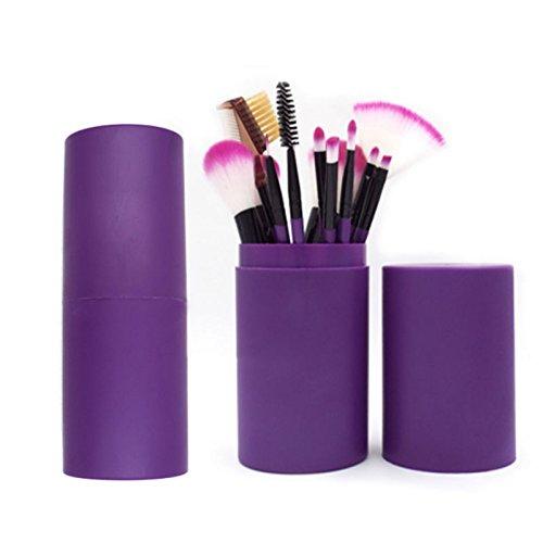 Moresave Ensemble de pinceaux de maquillage de 12 pièces avec coffret cadeau Ensemble de pinceaux de maquillage professionnel
