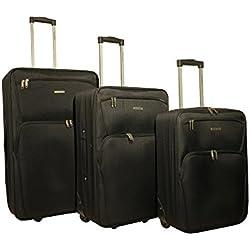 RAVIZZONI - Juego de maletas Negro Negro