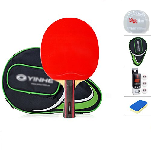 xianw Super 4-Sterne tischtennisschl?ger Profi Carbon Blade Gute Kombination aus stetigkeit & schnelligkeit-D