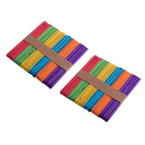 bige Handwerks-Stöcke Popsicle-Stöcke für Kinder-DIY-Projekte, die 100pcs in Handarbeit machen ()